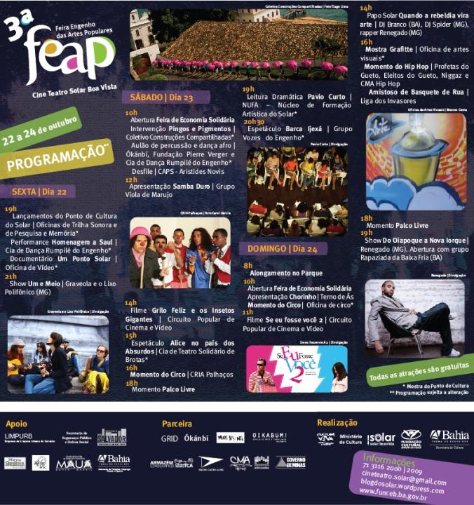 3ª FEAP - Feira Engenho das Artes Populares