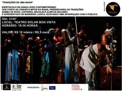 Espetáculo Tradições da Bahia_Cartaz